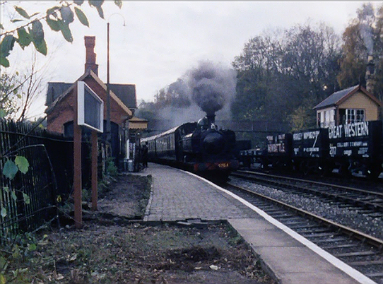 Carries' War - episode one - the train arrives at its destination (Highley station)