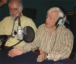 Tristan de Vere Cole and Morris Perry in the recording both of the studio