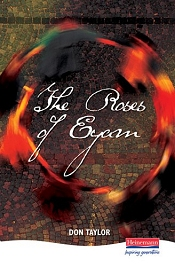 Cover of one of the published  version of the theatrical stage play of 'The Roses of Eyam'