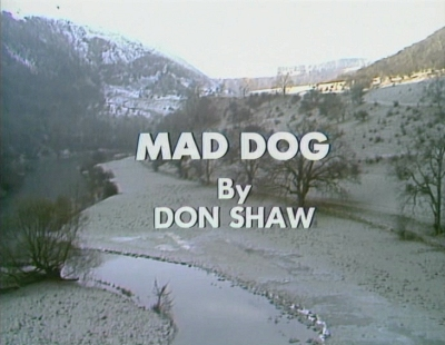 The on-screen title frame for Mad Dog