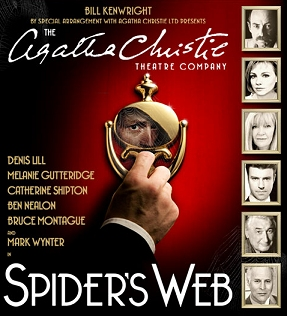 Promotional Flyer for The Agatha Christie Theatre Company's production of Spider's Web
