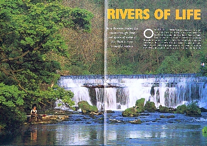 The Monsal weir, from the September 2004 edition of Peak District Magazine