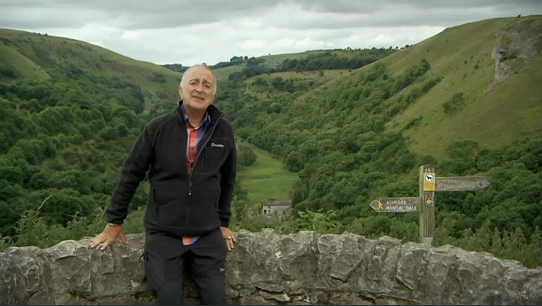 Tony Robinson narrates his tale from the head of the Monsal Dale valley