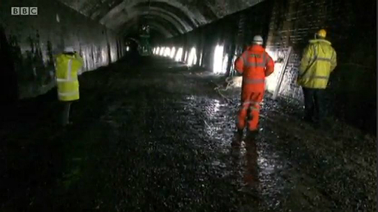 Work proceeds to waterproof and make safe the rail tunnels of the Monsal Trail