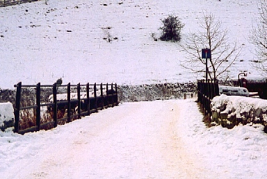 The scene in the winter snow of January 2002