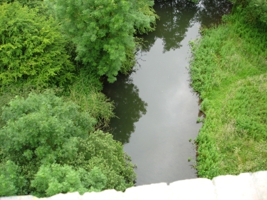 The river as seen from the Monsal viaduct
