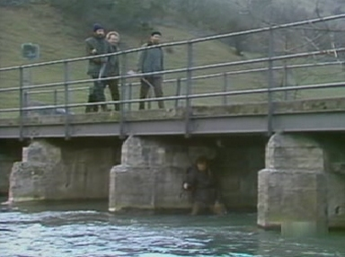 Charles hides beneath the bridge
