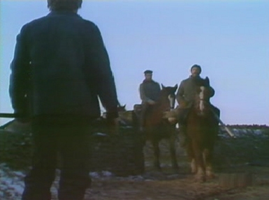The riders return to the farm, looking for Charles